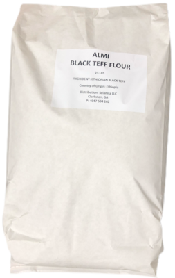 Almi black teff flour