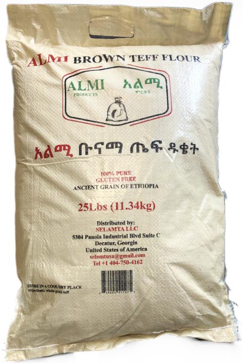 Almi brown teff flour