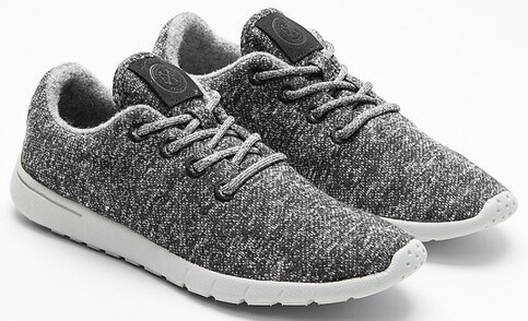 Express gray wool blend lace up fashion sneakers 11