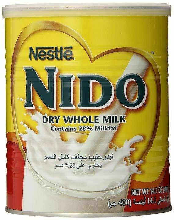 Nestle nido dry whole milk powder can
