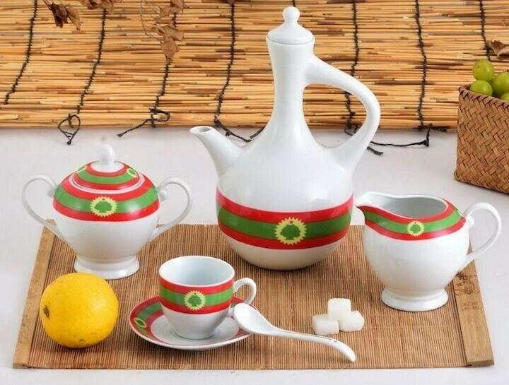 23 pcs Oromia flag coffee set