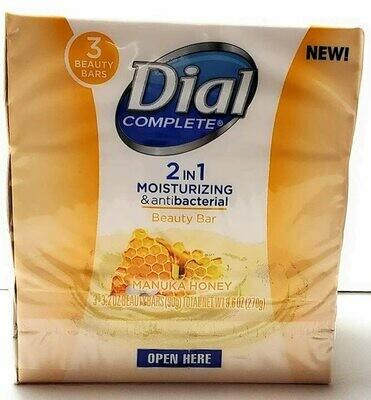Dial Complete 2in1 Moisturizing & Antibacterial 3 beauty bar manuka honey soap