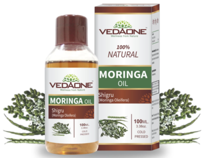 Vedaone !00% Natural Cold Pressed  Moringa Oil