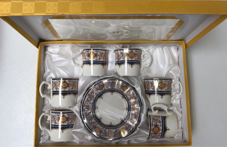 12 pcs Aramco Espresso Coffee Cups w/handle & Saucers