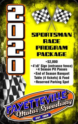 Sportsman Race Program Package