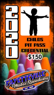 (1) Child Pit Pass