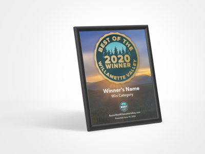 Winner's Modern Plaque