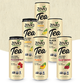 Zevia Organic Tea (12oz) Naturally Sweetened Black Tea