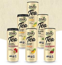 Zevia Organic Tea (12oz) Earl Grey Blood Orange Tea