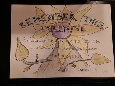 Gene Bonds Scripture Sketch