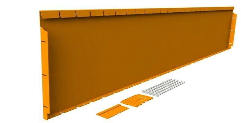 Straightcurve 400mm x 2.16m Rust - Flexline
