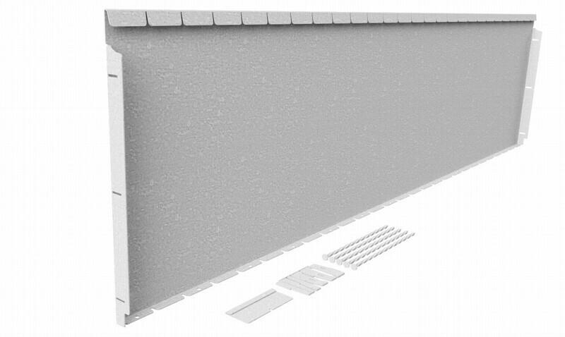 Straightcurve 560mm x 2.16m Galvanised - Flexline