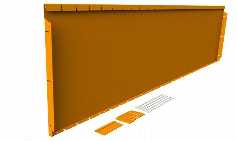 Straightcurve 560mm x 2.16m Rust - Flexline