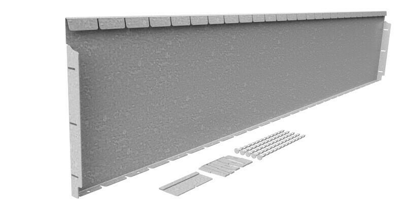 Straightcurve 400mm x 2.16m Galvanised - Flexline