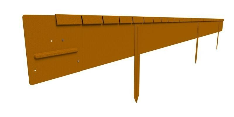 Straightcurve 150mm x 2.2m Rust - Flexline