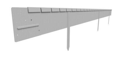 Straightcurve 150mm x 2.2m  -  Galvanised
