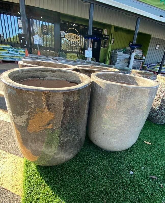 Glazed Tulip Ceramic Pot 540h x 450w