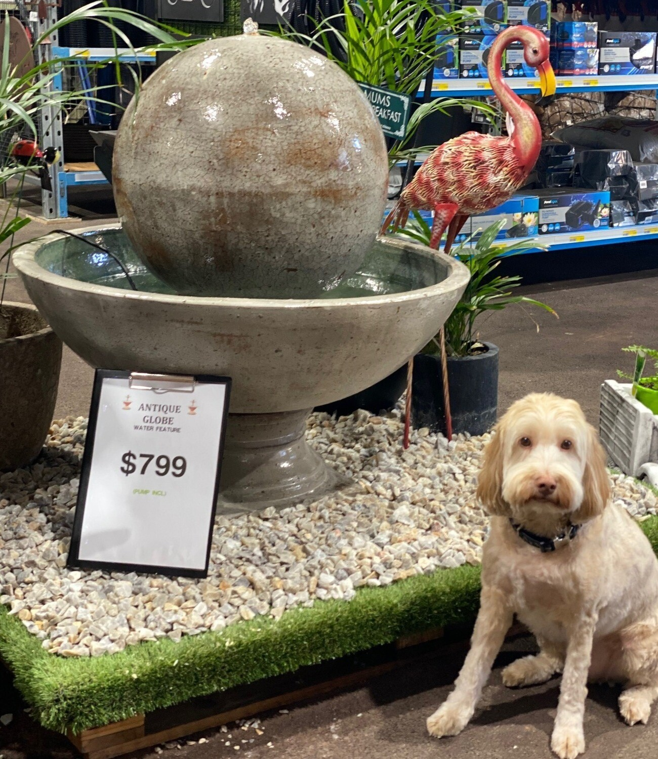 Globe Water Feature  - Antique finish