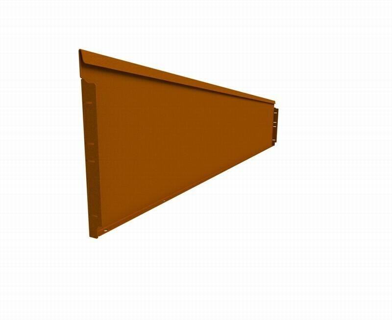 Straightcurve 400mm x 2.16m Rust - Rigidline