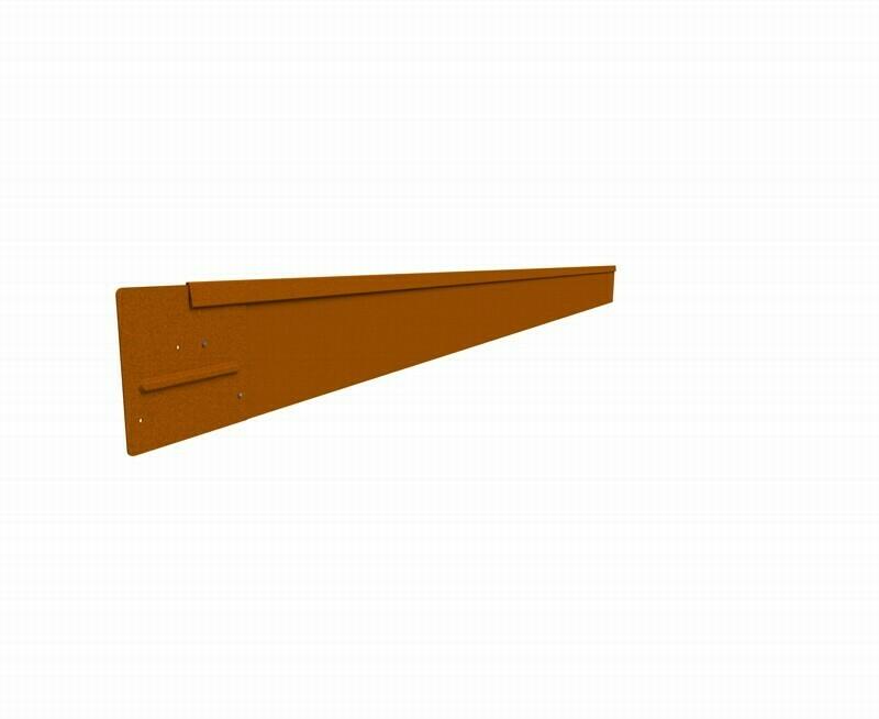 Straightcurve 150mm x 2.2m Rust - Rigidline