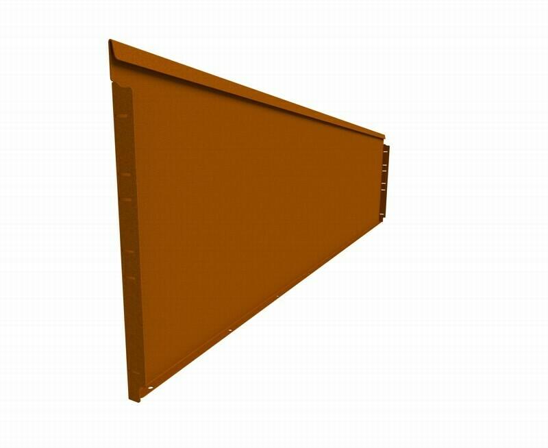 Straightcurve 560mm x 2.16m Rust - Rigidline