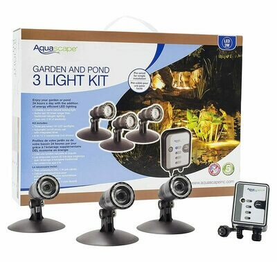 Aquascape LED Pond & Landscape Spotlight Kit 3-Watt