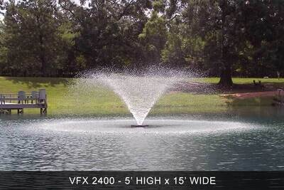 Kasco 2400VFX Aerating Fountain With 100' Cord