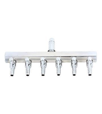 6-Outlet Valved Air Manifold