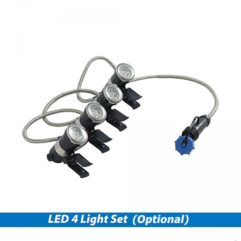 LED White 4-Light Set For EcoSeries Floating Fountains - 100' Cord