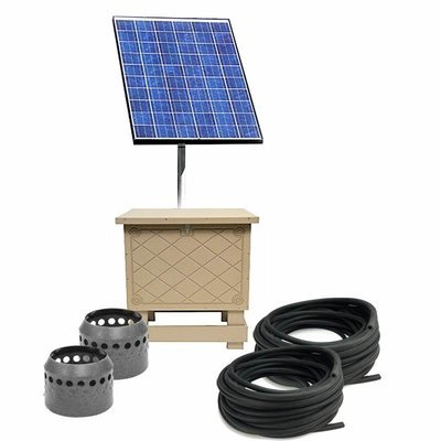 Solar Pond Aeration System with Battery Backup - Up to 2 Acres