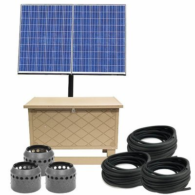 Solar Pond Aeration System with Battery Backup - Up to 3 Acres