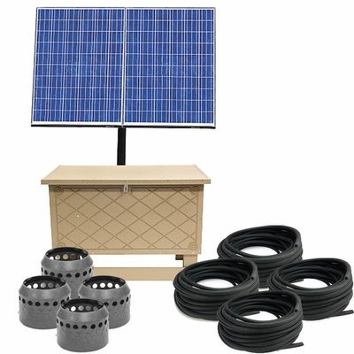 Solar Pond Aeration System with Battery Backup - Up to 4 Acres