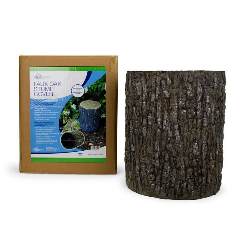 Faux Oak Stump Cover by Aquascape