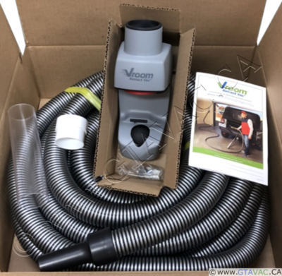 Vroom Retract Vac​ Hose Kit - Garage Retractable Hose System