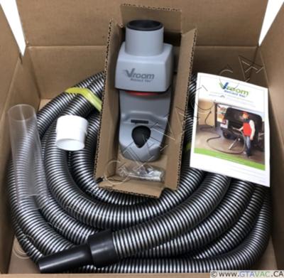 Vroom Retract Vac Hose Kit - Garage Retractable Hose System