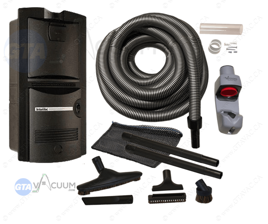 Vroom Retract Vac​ All-In-One Garage Retractable Hose System Package