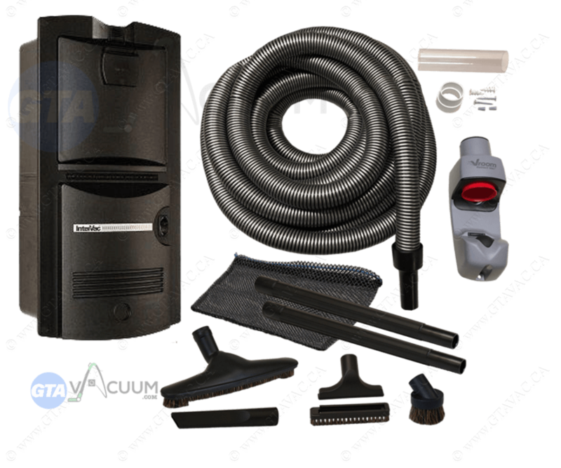 Vroom Retract Vac All-In-One Garage Retractable Hose System Package