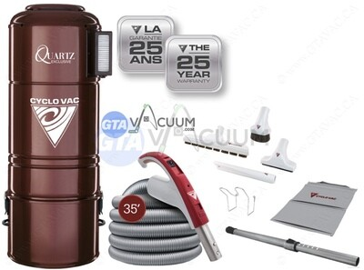 CycloVac Quartz Central Vacuum Package Exclusive Plus 25 Years Warranty