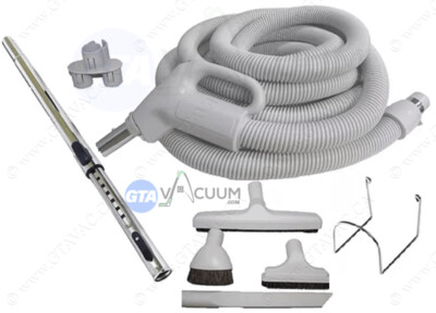 Standard Hose KIT Central Vac With Floor Brush and Attachment Tools
