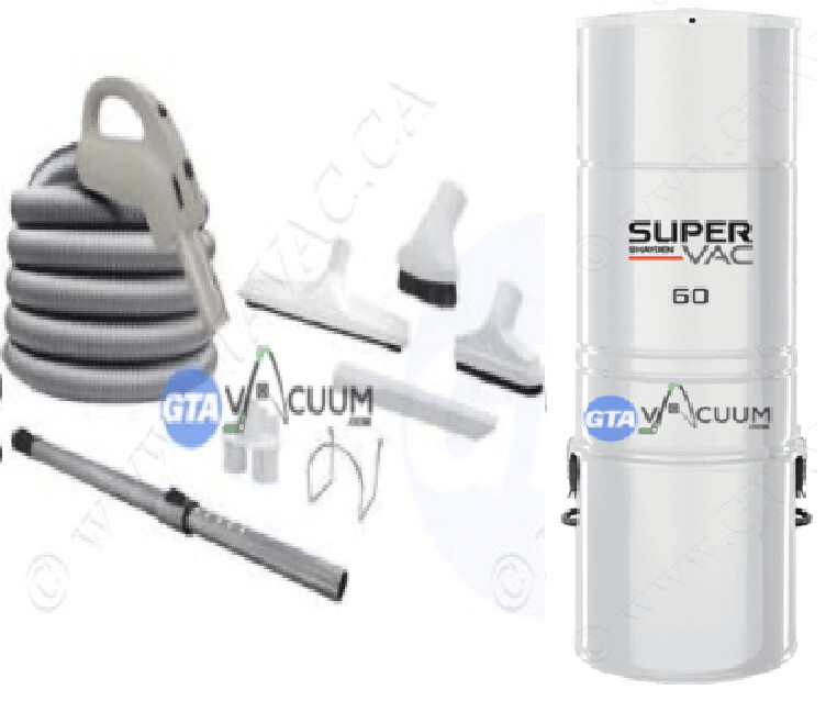 SuperVac 60 Central Vacuum System Package