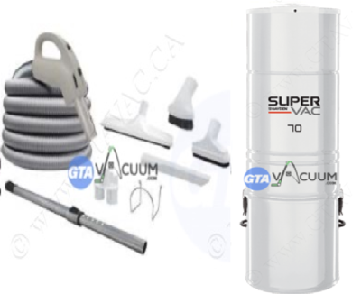SuperVac 70 Central Vacuum System Package
