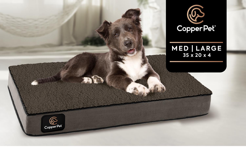 M/L: Anti-Microbial Orthopedic Waterproof Dog Bed 35