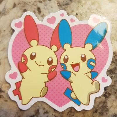 Plusle and minun  sticker