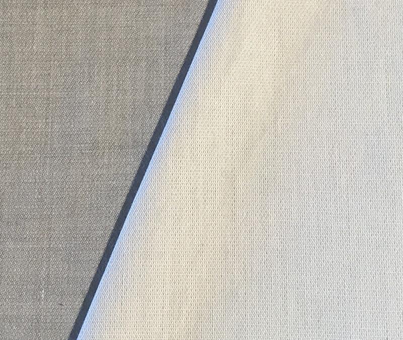 Elektrosmog Abschirmstoff blickdicht lichtgrau (Fr. 65.50 pro m2)