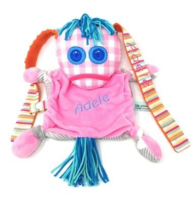 Das kleine Ich Bin Ich Stofftier Schmusetuch rosa personalisierbar mit Namen aus geprüften Materialen. Geschenk zur Geburt, Taufe, Patengeschenk