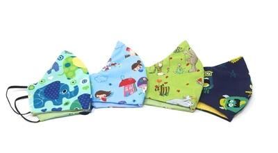 Behelfs Mundschutz Masken Set fuer Kinder und Erwachsene bunt