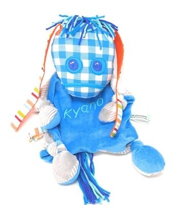 Das kleine Ich Bin Ich Stofftier Schmusetuch blau personalisierbar mit Namen aus geprüften Materialen. Geschenk zur Geburt, Taufe, Patengeschenk