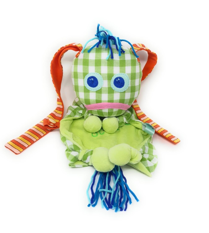 Das kleine Ich Bin Ich Stofftier Schmusetuch hellgrün, personalisierbar mit Namen aus geprüften Materialen. Geschenk zur Geburt, Taufe, Patengeschenk