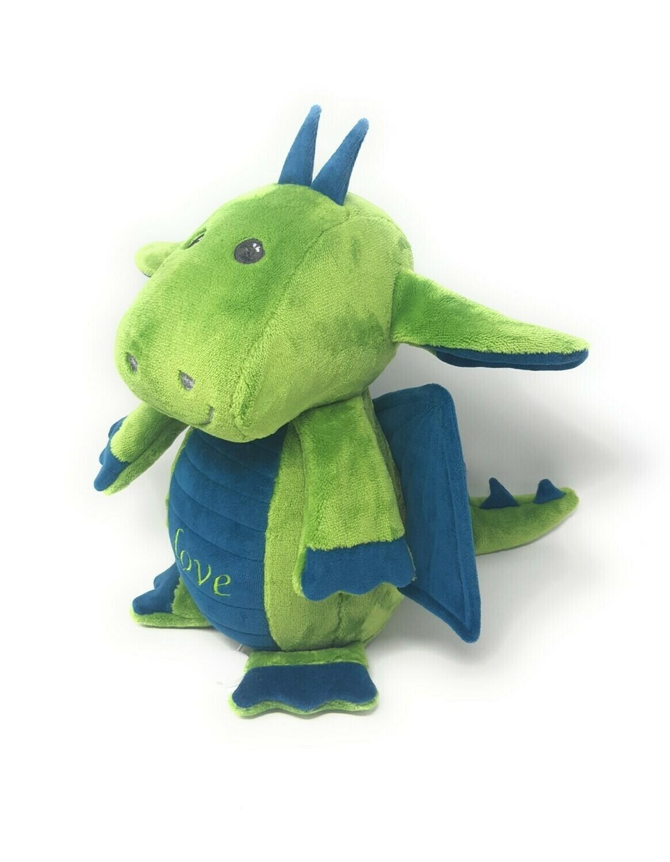 Neu: Personalisierte Spieluhr Drache smaragdgrün mit Wunschmelodie, süßes Geschenk für Geburt, Taufe, Geburtstag. Sofort lieferbar