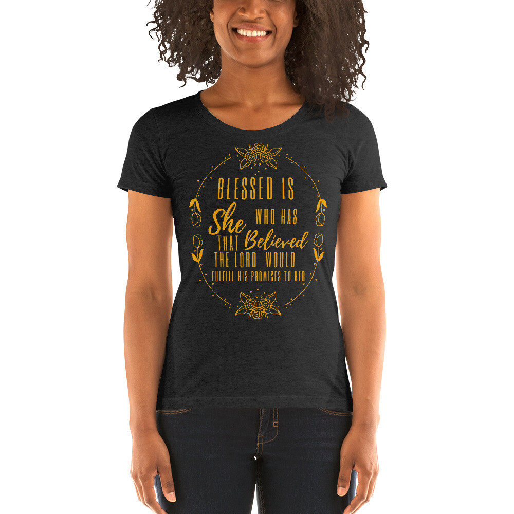 Blessed is She Ladies' short sleeve t-shirt -